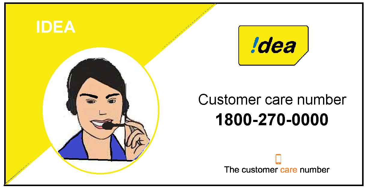 Idea Customer Care Number 1800-270- and Toll-Free
